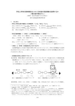 存在と所有の意味概念はいかに日本語の言語現象を説明