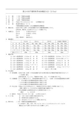 第20回千葉県秋季水泳競技大会(25m)
