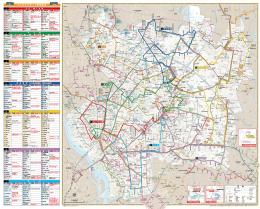 みんななかまバス路線図
