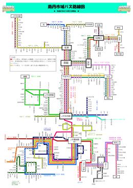 南丹市域バス路線図