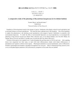 異なる生育地におけるシモフリゴケのフェノロジー特性