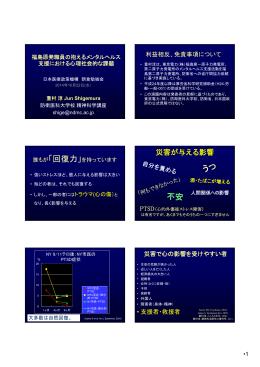 災害が与える影響 - 日本医療政策機構