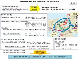 資料1 舞鶴若狭自動車道 全線開通の効果分析結果