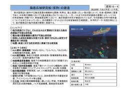 海底広域研究船(仮称)の建造