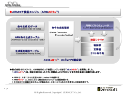 ARMARTsTM のブロック構成図 ARMコア検証エンジン