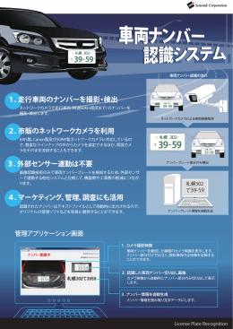 1.走行車両のナンバーを撮影・検出 2.市販のネットワークカメラを利用