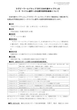 ラグビーワールドカップ 2015 日本代表キャプテンの リーチ マイケル選手