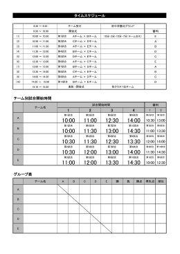 府中YEGカップ2015タイムスケジュール