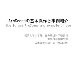 ArcSceneの基本操作と事例紹介 - 空間情報科学分野