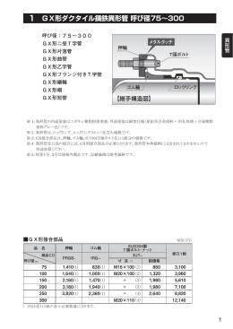 1 GX形ダクタイル鋳鉄異形管 呼び径75∼300