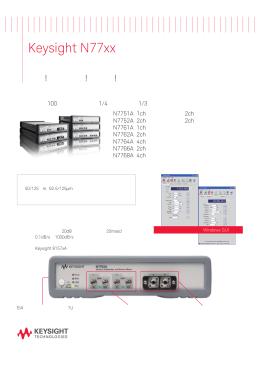 Keysight N77xxシリーズ マルチチャネル 光アッテネータ