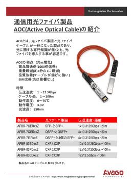 通信用光ファイバ製品 AOC(Active Optical Cable)の紹介