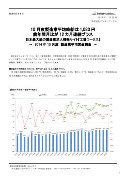製造業平均賃金調査 - 株式会社インターワークス
