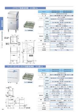 アンダーカウンタータイプ食器洗浄機 エコ洗くん ドアタイプ食器洗浄機