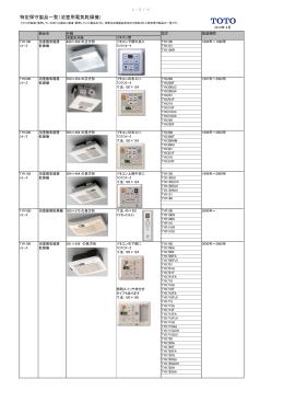 特定保守製品一覧(浴室用電気乾燥機)