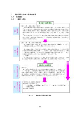 3. 橋の設計の基本と基準の変遷 3.1 橋の設計 3.1.1 法律