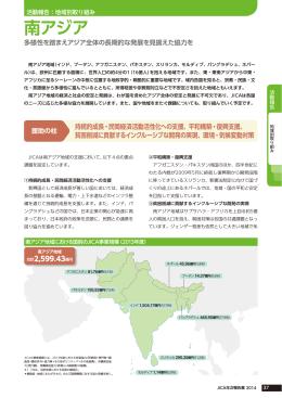 地域別取り組み 南アジア(国際協力機構年報 2014)(PDF/0.98
