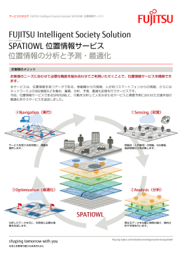 FUJITSU Intelligent Society Solution SPATIOWL 位置情報