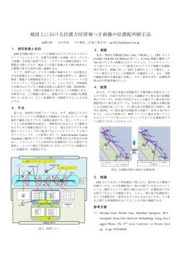 地図上における位置方位情報つき画像の位置配列修正法