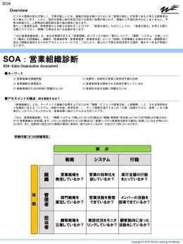 SOA : 営業組織診断
