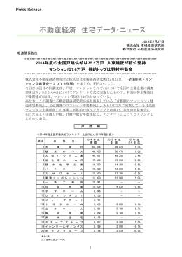 全国住宅・マンション供給調査2016年版 - Fudousankeizai.co.jp