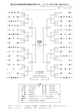 第67回広島県高等学校総合体育大会 サッカー男子の部