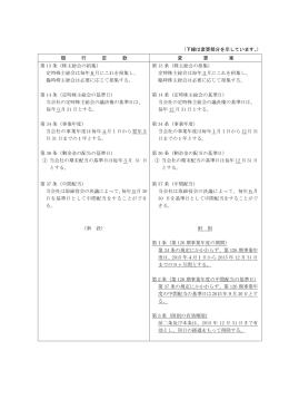 (下線は変更部分を示しています。) 現 行 定 款 変 更 案 第 13 条 (株主