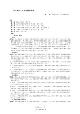 12-3-28 (1) 小樽市文化芸術振興条例