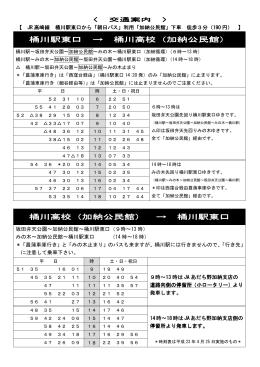 桶川駅東口 → 桶川高校(加納公民館)