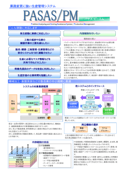 業務変更に強い生産管理システム - 株式会社コーディアル