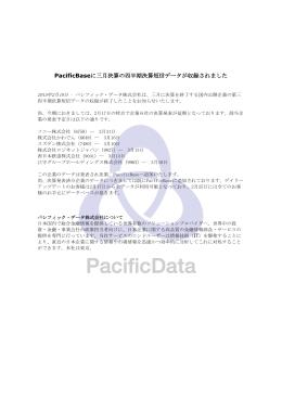 PacificBaseに三月決算の四半期決算短信データが収録