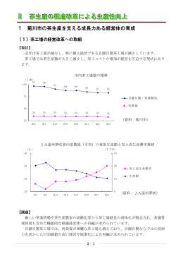 Ⅱ 茶生産の構造改革による生産性向上