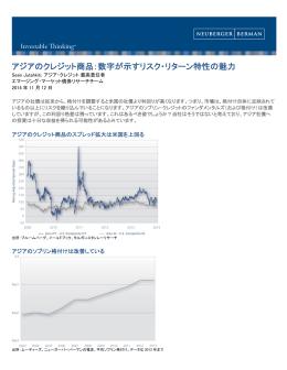 アジアのクレジット商品:数字が示すリスク・リターン特性の魅力
