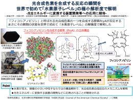 光合成色素を合成する反応の瞬間を 世界で初めて「水素原子レベル」の