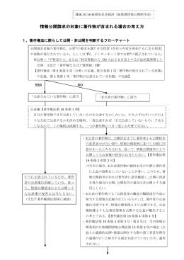 情報公開請求の対象に著作物が含まれる場合の考え方(抜粋)(PDF