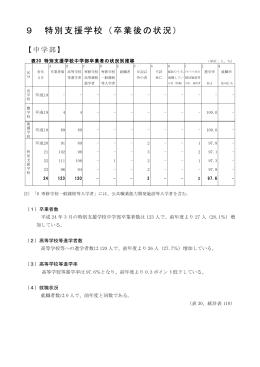9 特別支援学校(卒業後の状況)