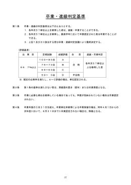 卒業・進級判定基準