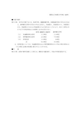 卒業(修了)認定基準(PDF:102kb)