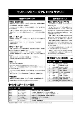 モノトーンミュージアム RPG サマリー