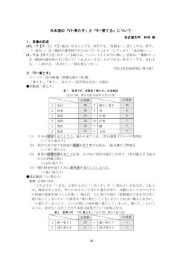 日本語の「V1-果たす」と「V1-果てる」について