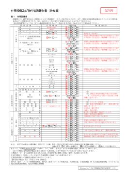 付帯設備表・物件状況報告書