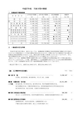 平成27年度当初予算の概要(PDF形式 218KB)