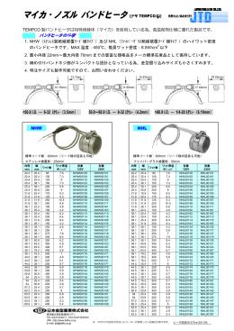 マイカ・ノズル バンドヒータ(米国 TEMPCO 製)