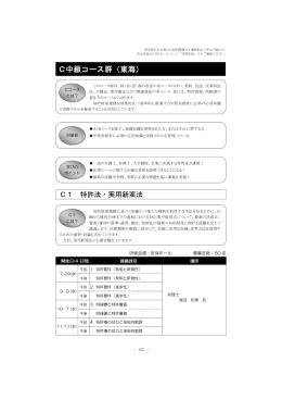 C中級コース群(東海)