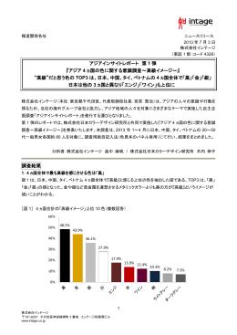 アジア 4 ヵ国の色に関する意識調査~高級イメージ