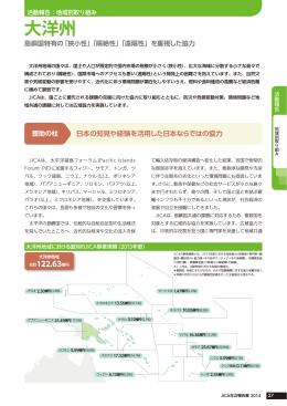 地域別取り組み 大洋州(国際協力機構年報 2014)(PDF/0.99MB)