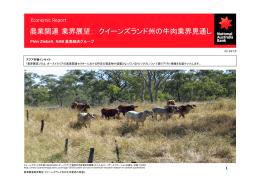 農業関連業界展望: クイーンズランド州の牛肉業界見通し
