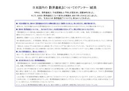 日本国内の『世界遺産』についてのアンケート結果 - F