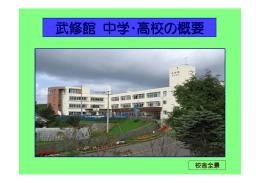 武修館 中学・高校の概要