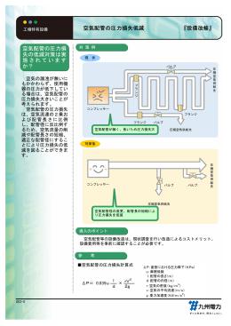 空気配管の圧力損失低